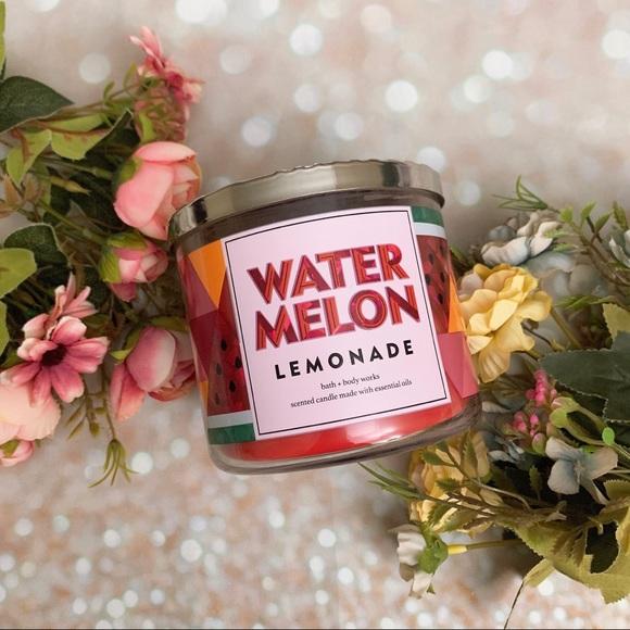 Bath and body works bbw watermelon lemonade candle